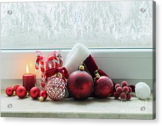 Christmas Windowsill Acrylic Print