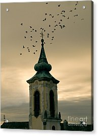 Church Acrylic Print by Odon Czintos
