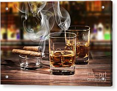 Cigar And Alcohol Collection Acrylic Print by Marvin Blaine