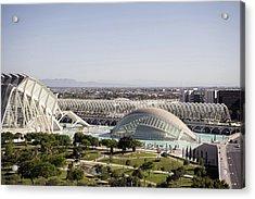 Ciudad De Las Artes Y Ciencias Valencia Acrylic Print by For Ninety One Days