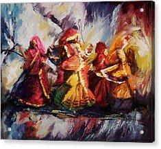 Classical Dance Art 16 Acrylic Print by Maryam Mughal