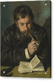 Claude Monet Acrylic Print by Pierre Auguste Renoir