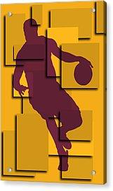 Cleveland Cavaliers Lebron James Acrylic Print by Joe Hamilton