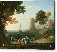 Coast View With The Abduction Of Europa Acrylic Print