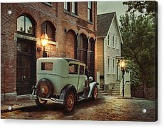 Acrylic Print featuring the photograph Cobblestone Streets by Robin-Lee Vieira