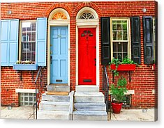 Colonial Doors Acrylic Print by Andrew Dinh