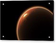 Colonization Of Mars Acrylic Print by Allan Swart