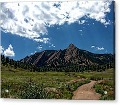 Colorado Landscape Acrylic Print by Anthony Dezenzio