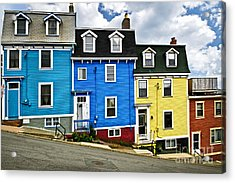 Colorful Houses In St. John's Newfoundland Acrylic Print