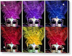Colorful Mardi Gras Masks Acrylic Print