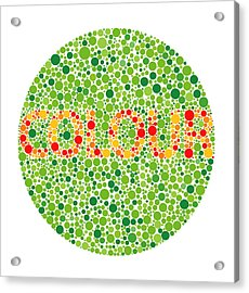 Colour Blindness Test Acrylic Print by David Nicholls