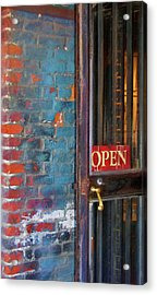 Come On In, We're Open Acrylic Print by JAMART Photography