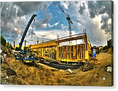 Construction Site Acrylic Print