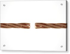 Copper Wire Strands Disconnected Acrylic Print