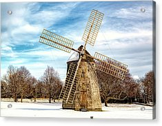 Acrylic Print featuring the photograph Corwith Windmill Long Island Ny Cii by Susan Candelario