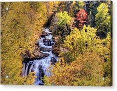 Cullasaja Falls Acrylic Print by Doug McPherson