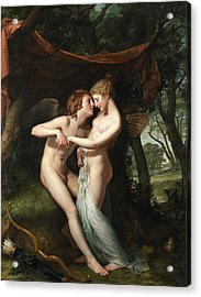 Cupid And Psyche In The Nuptial Bower Acrylic Print
