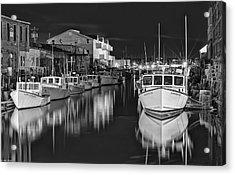 Custom House Wharf Acrylic Print by Richard Bean