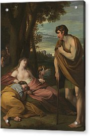 Cymon And Iphigenia Acrylic Print by Benjamin West