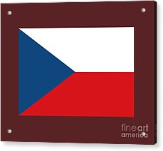 Czech Republic Flag Acrylic Print by Frederick Holiday