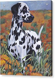 Acrylic Print featuring the painting Dalmatian by Lee Ann Shepard