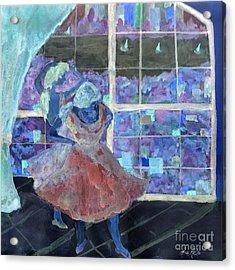 Acrylic Print featuring the digital art Dansarinas by Reina Resto