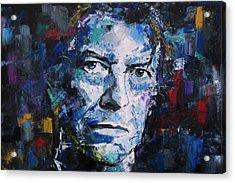 David Bowie Acrylic Print by Richard Day