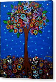 Day Of The Dead Acrylic Print by Pristine Cartera Turkus