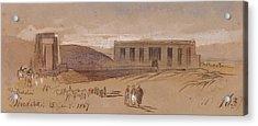 Dendera Acrylic Print by Edward Lear