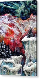 Detail Of Winter Acrylic Print by Kimberly Simon