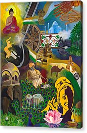 Discover India Acrylic Print by Alika Kumar