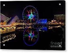 Disney California Adventure Mickey's Fun Wheel Acrylic Print by Peter Dang