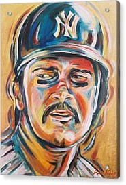 Don Mattingly Acrylic Print by Redlime Art