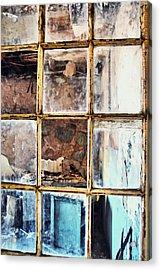 Blue Window Panes  Acrylic Print by JAMART Photography