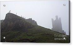 Dunstanburgh Castle.  Acrylic Print by John Cox