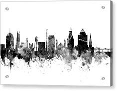 Durham North Carolina Skyline Acrylic Print
