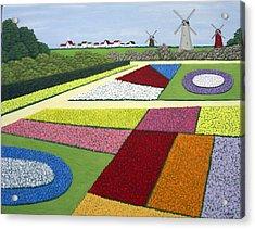 Dutch Gardens Acrylic Print by Frederic Kohli