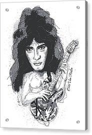 Eddie Van Halen Acrylic Print by Gary Bodnar