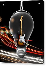 Electric Fender Stratocaster Collection Acrylic Print