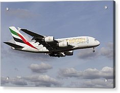 Emirates A380 Airbus Acrylic Print