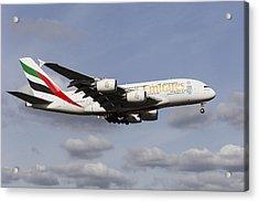 Emirates A380 Airbus Acrylic Print