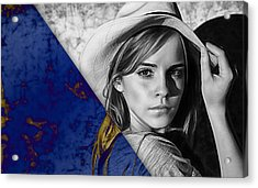 Emma Watson Collection Acrylic Print by Marvin Blaine