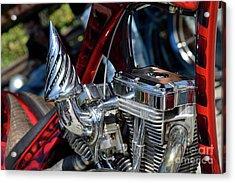 Engine Of Harley-davidson Chopper Acrylic Print
