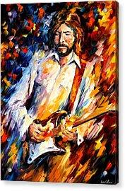 Eric Clapton Acrylic Print by Leonid Afremov