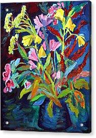 Evening Flowers Acrylic Print by Katia Weyher