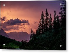 Evening In The Alps Acrylic Print