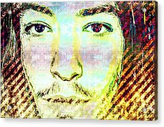 Acrylic Print featuring the mixed media Ezra Miller by Svelby Art