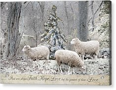 Faith Hope Love Acrylic Print