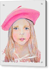 Fayanna Little French Angel Of Trust Acrylic Print by The Art With A Heart By Charlotte Phillips