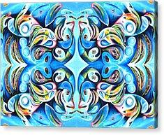 Feeding Frenzy Acrylic Print by Ky Wilms